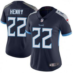 Women Titans Derrick Henry Navy Jersey